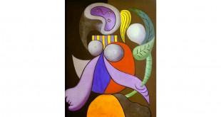 """""""Mulher com flor"""", Pablo Picasso, 1932, óleo sobre tela"""