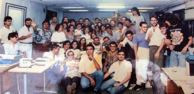 Redação do Diário do Povo na década de 1990