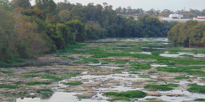 Rio Piracicaba em agosto de 2014: sinal de alerta em toda a região para mudanças climáticas (Foto José Pedro Martins)