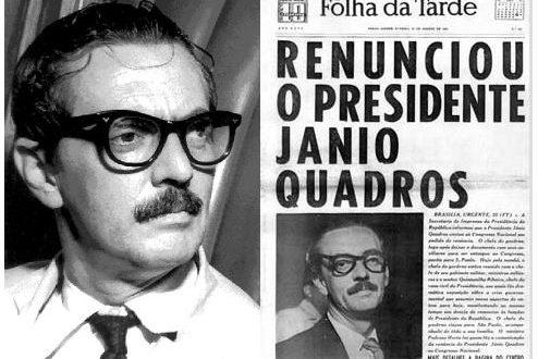 Capa da Folha da Tarde, noticiando a renúncia de Jânio Quadros