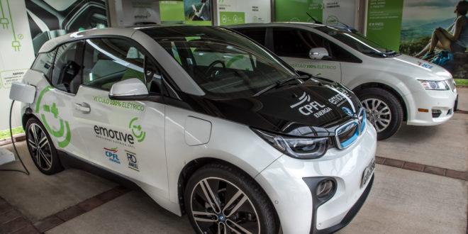 Veículos elétricos usados pela CPFL, que está investindo em novas fontes energéticas (Foto Martinho Caires)