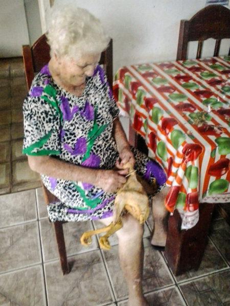 Foto da minha querida avó Maria Mathias Franceschini preparando nosso jantar (Foto Arquivo da Família)