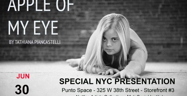 Cartaz da peça de Thathi Piancastelli, em cartaz em Nova York