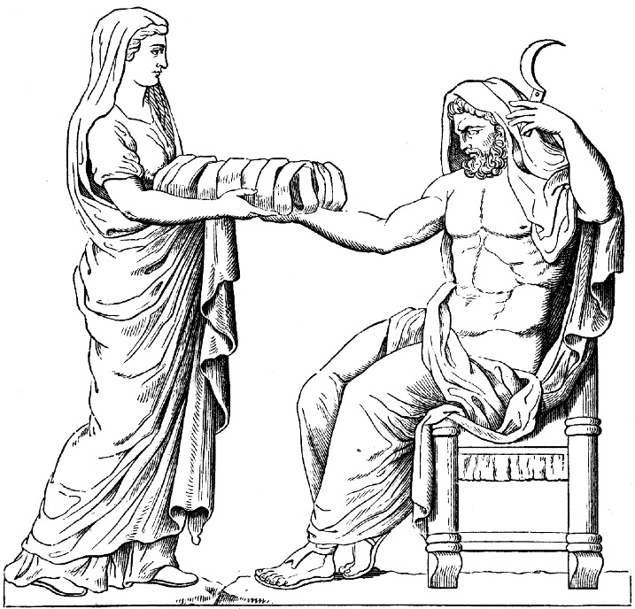 Crédito: Cronos e Reia/reprodução de baixo-relevo romano