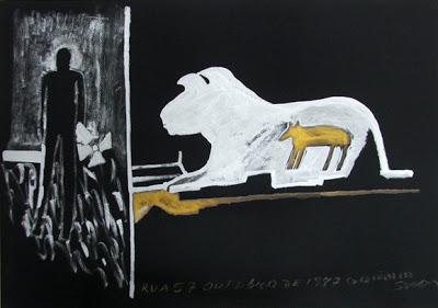Uma das obras do artista plástico Siron Franco retratando o acidente