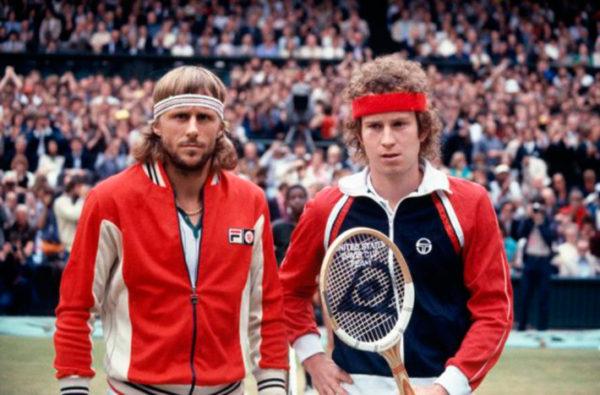 Borg e McEnroe verdadeiros: gênios no tênis (Foto Divulgação)